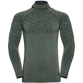 Odlo Natural + Kinship LS Shirt with Facemask Men agave green melange